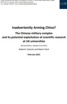 Inadvertently Arming China?